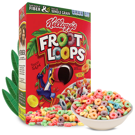 Kellogg's Froot Loops Whole-Grain Cereal Sample